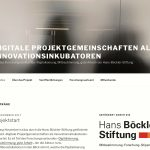Splitter: Digitale Projektgemeinschaften als Innovationsinkubatoren (Website)